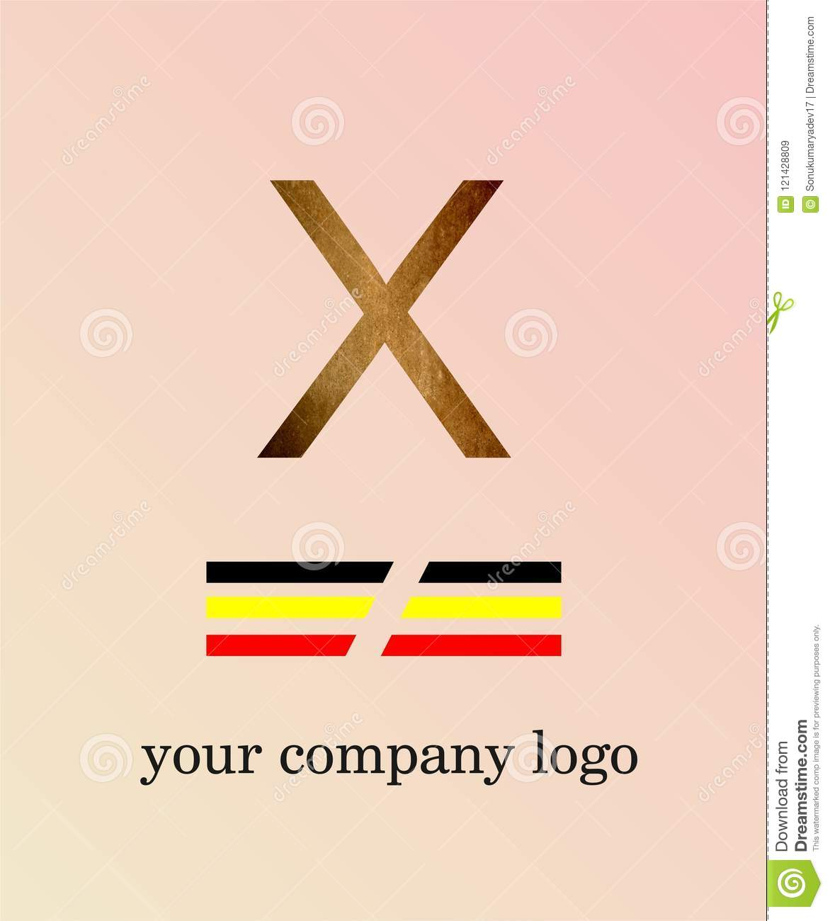 X Letter Logo With Texture Template You Company Logo And Light Pink ...