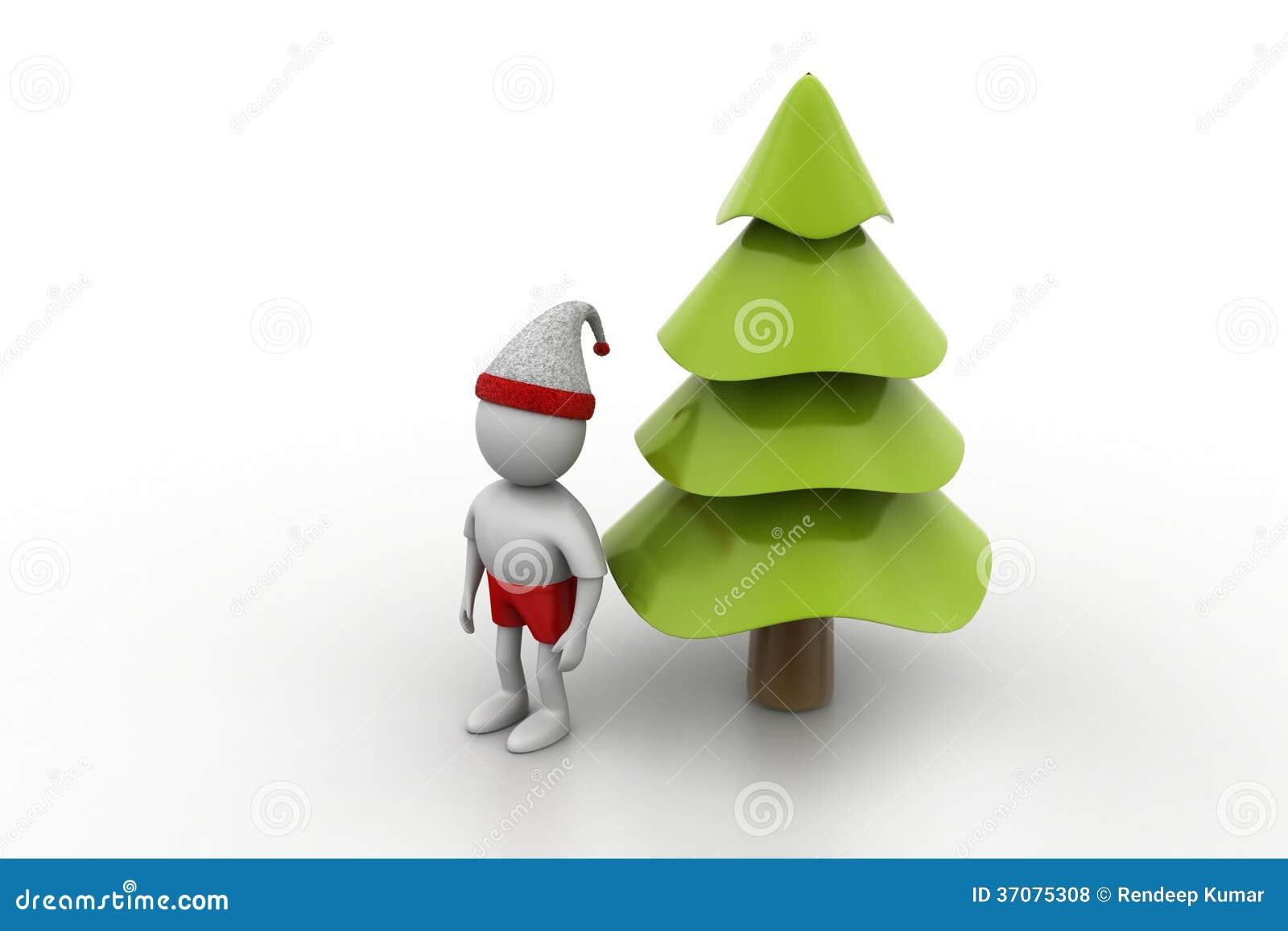 Download X Mas Drzewo I Santa Mężczyzna Ilustracji - Ilustracja złożonej z gwiazda, ląg: 37075308
