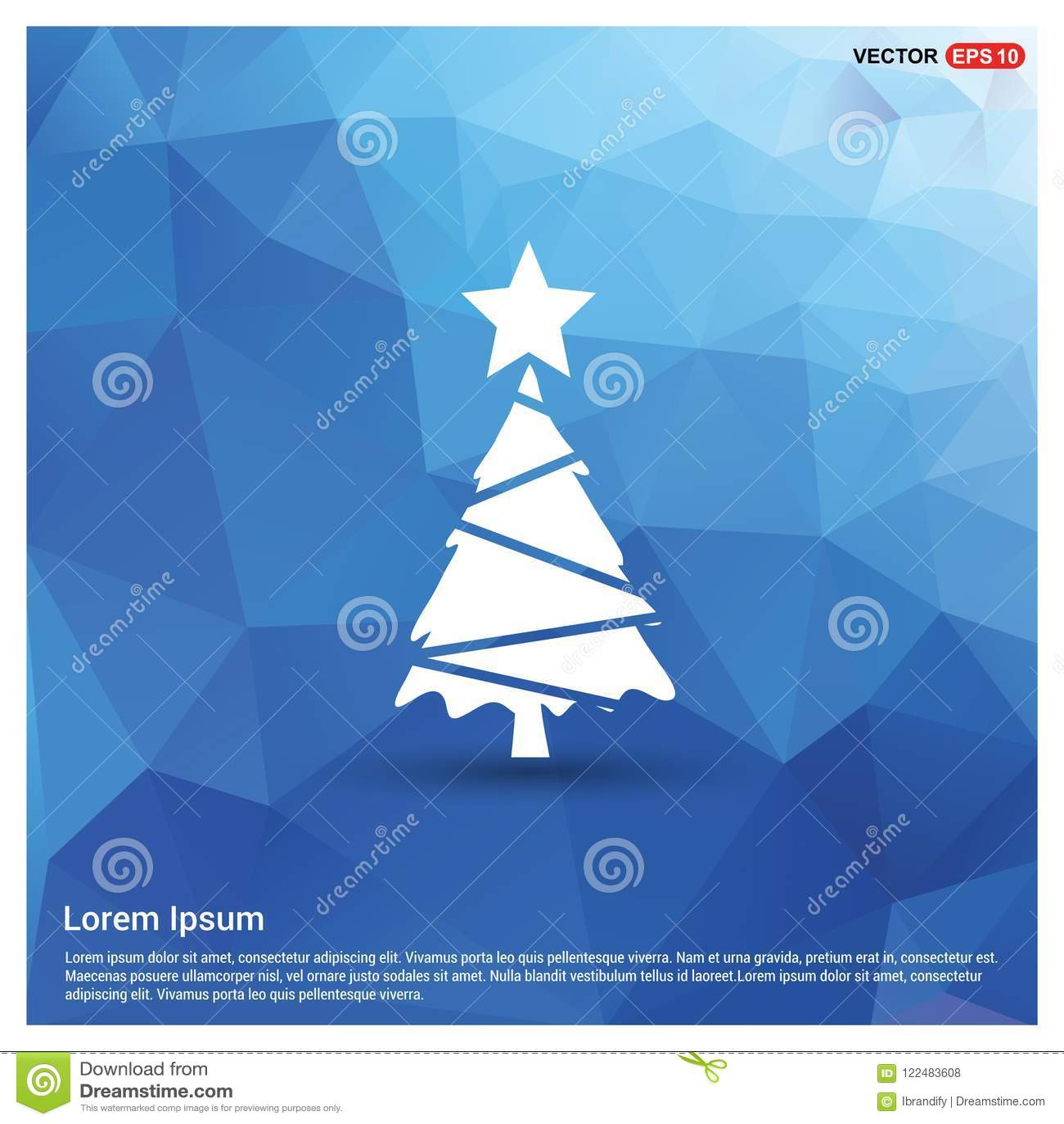 X-Mas Tree Icon stock vector. Illustration of invitation - 122483608