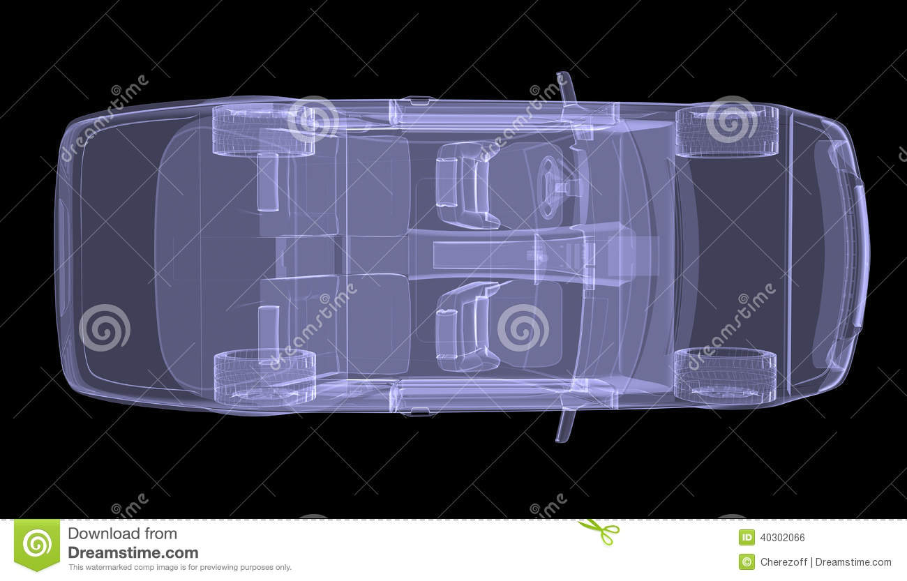 X Ray Concept Car Top View Stock Illustration Image
