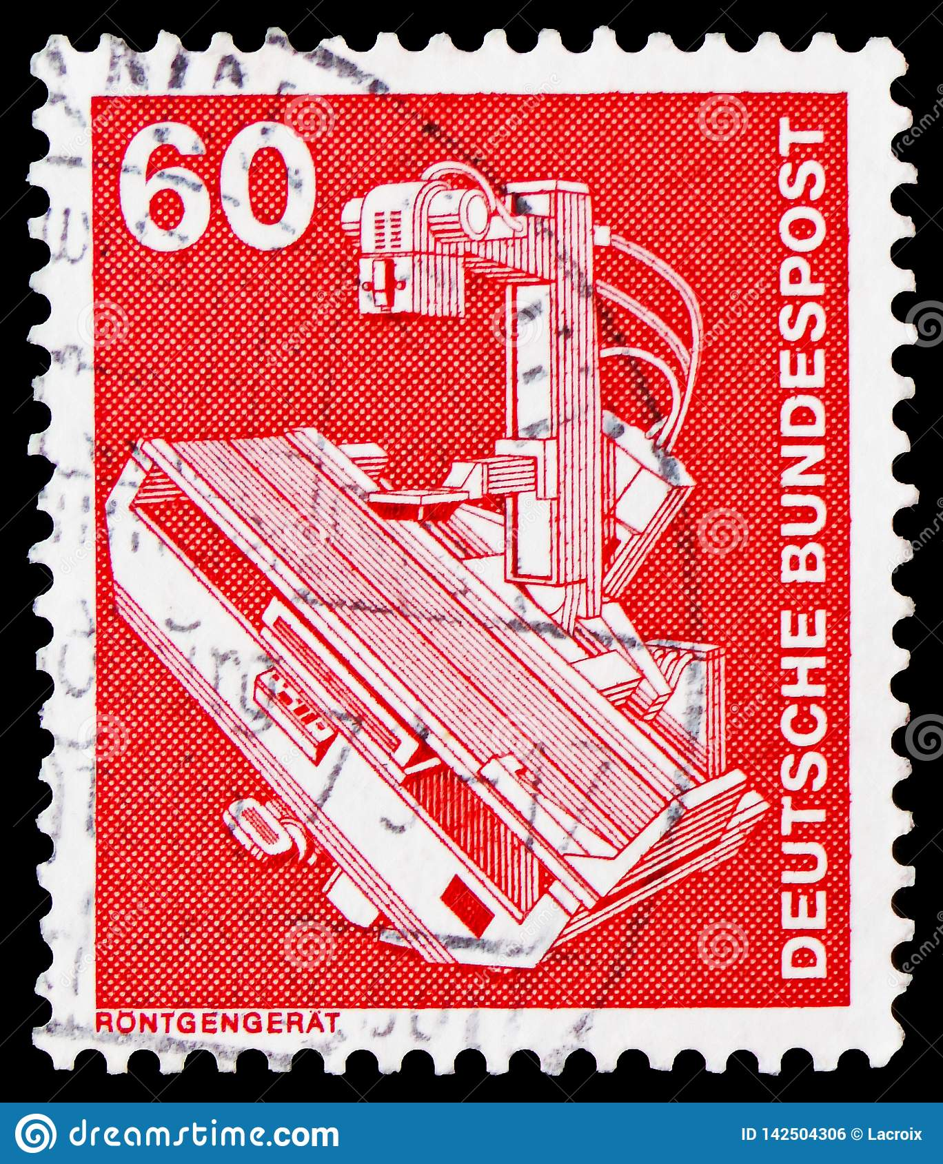 X-ray device, Industry and Technology Definitives 1975-1982 serie, circa 1978
