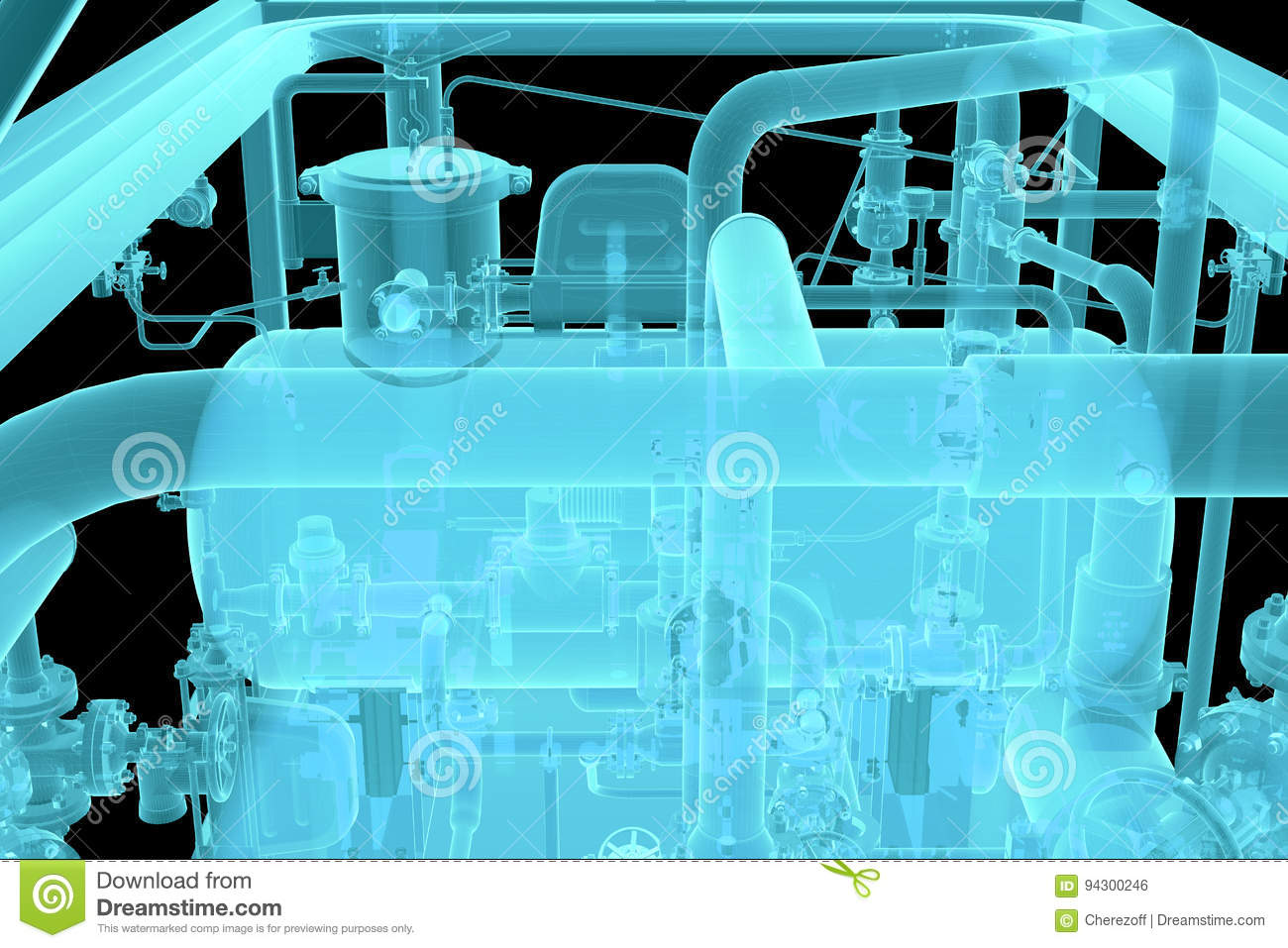 X-Ray Image of Industrial equipment
