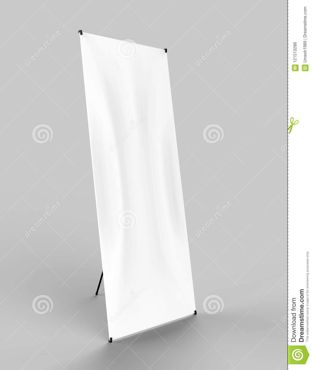X-STYLE COLLAPSIBLE BANNER STAND  Stock Illustration