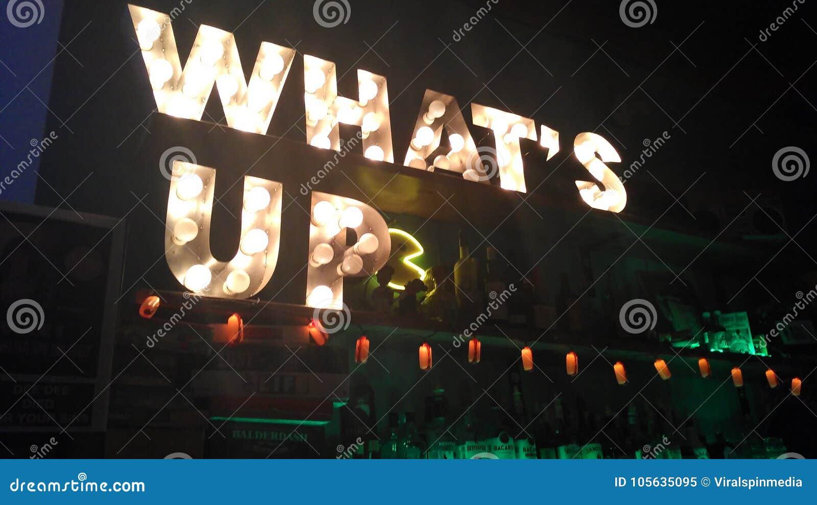 & x22; What& x27; s Up& x22; segno della lampadina