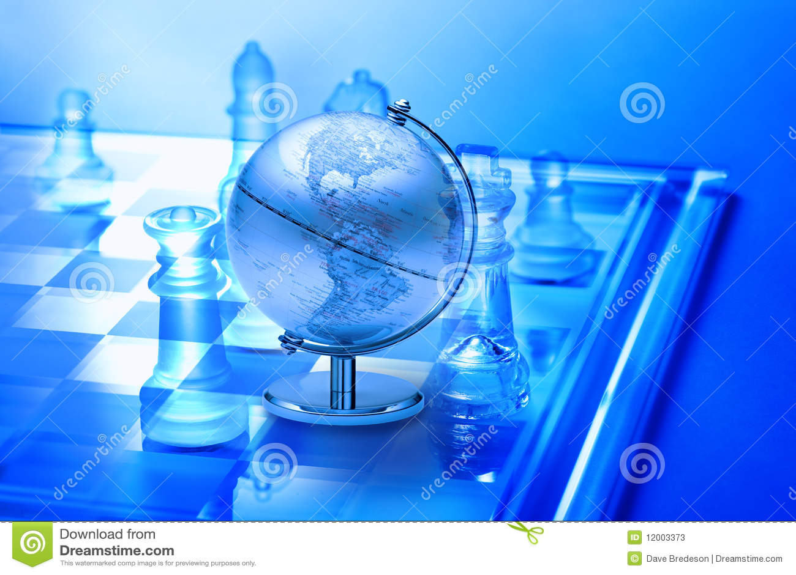 Xadrez da estratégia empresarial do mundo