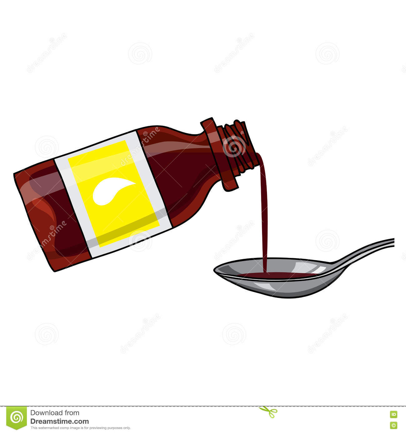 clip art cough syrup
