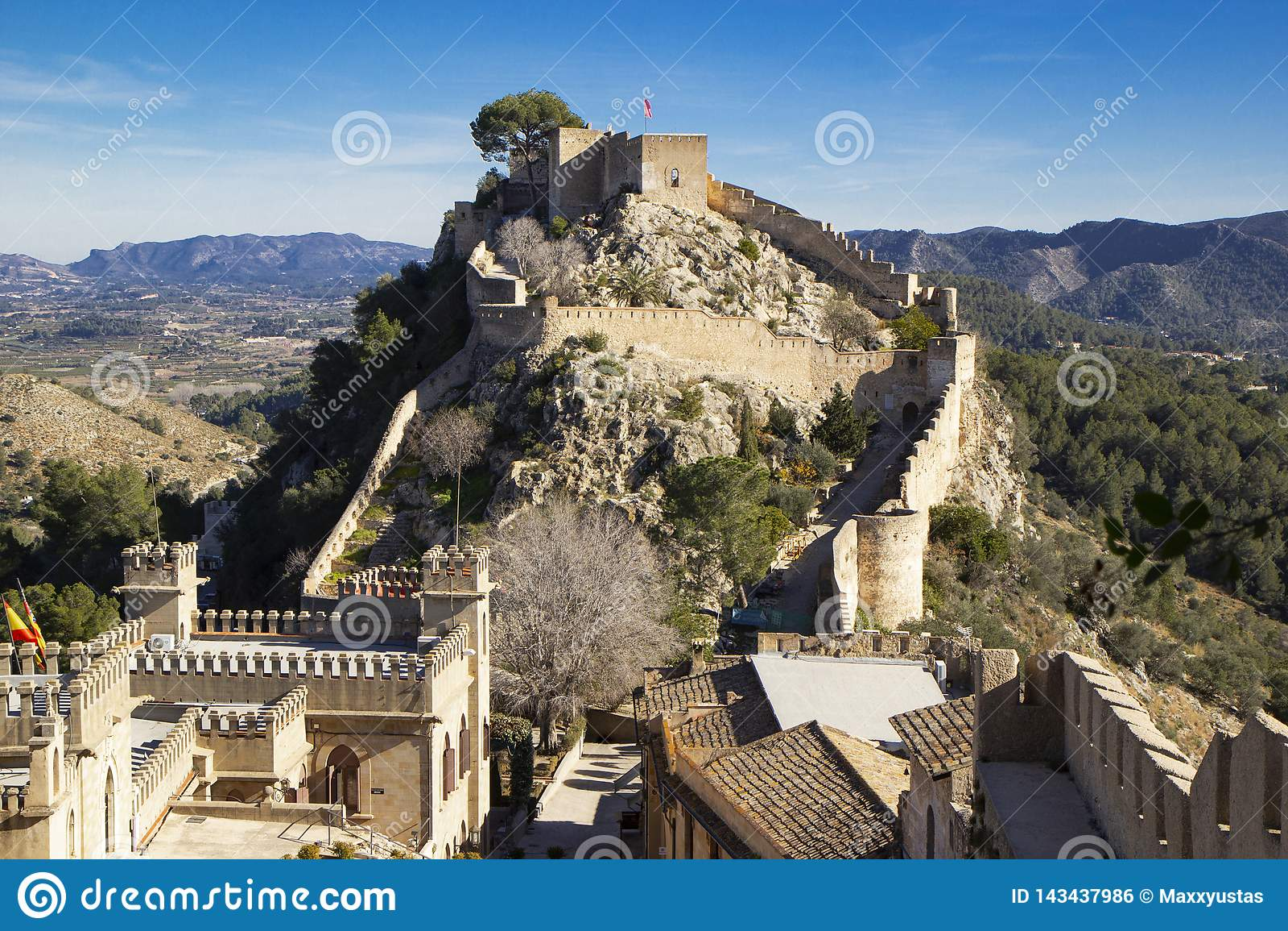 Map Of Xativa Spain.Xativa Castle Valencia Stock Photo Image Of Aerial 143437986