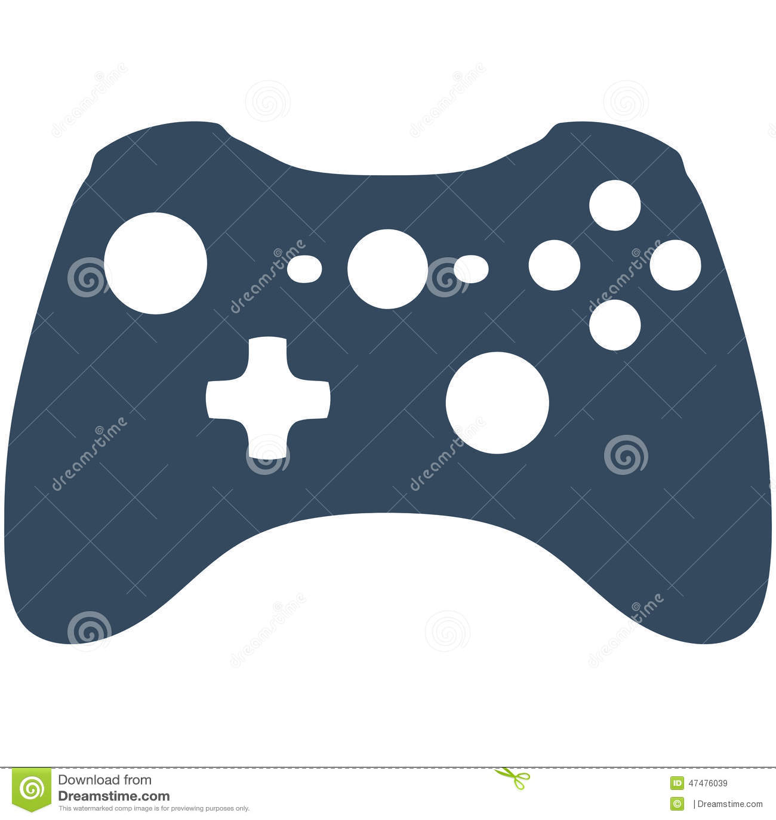 Xbox 360 Game Controller stock illustration. Illustration ...Xbox Controller Silhouette Image
