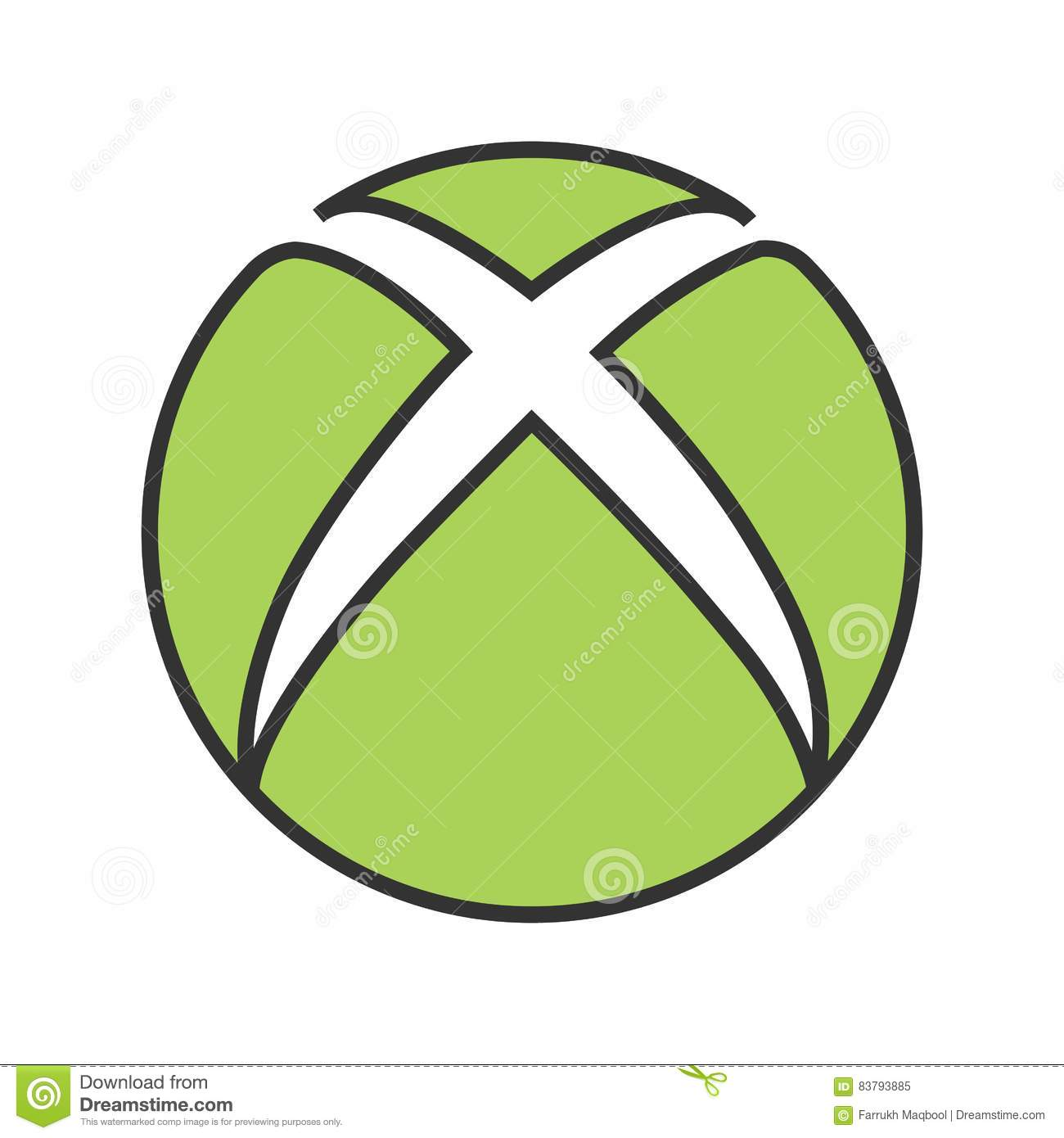 xbox cartoon vector cartoondealercom 83793885