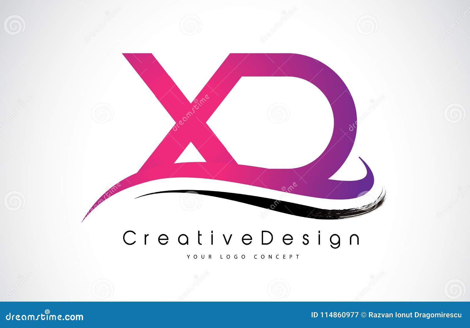 XD X D Letter Logo Design. Creative Icon Modern Letters Vector L ...