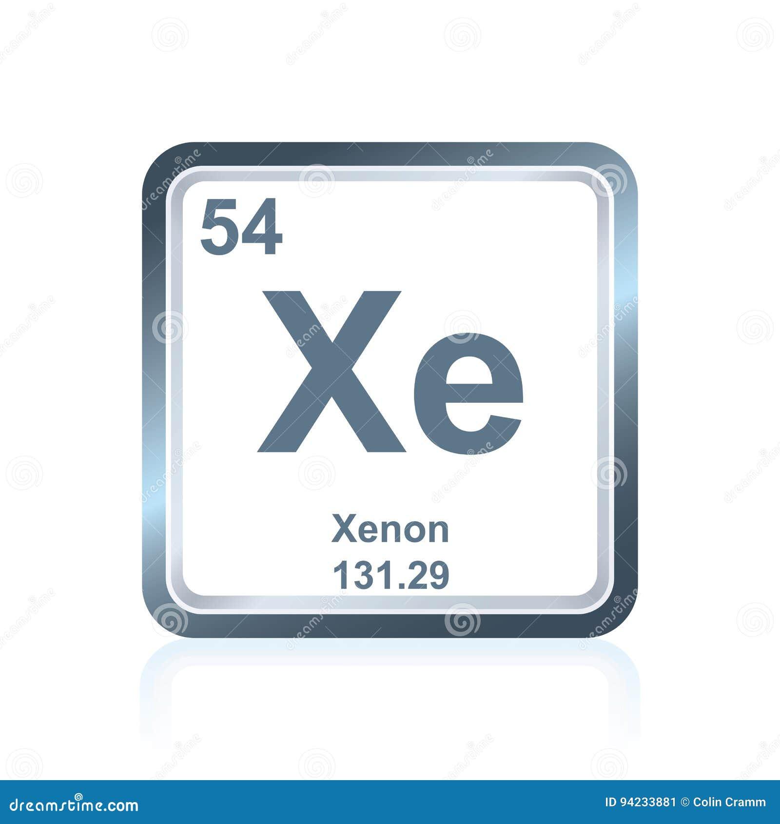 Xenn del elemento qumico de la tabla peridica stock de xenn del elemento qumico de la tabla peridica urtaz Images