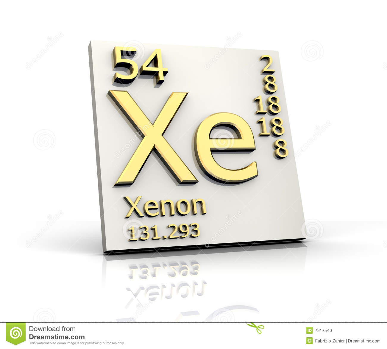 Xenon Form Periodic Table Of Elements Stock Photo - Image: 7917540