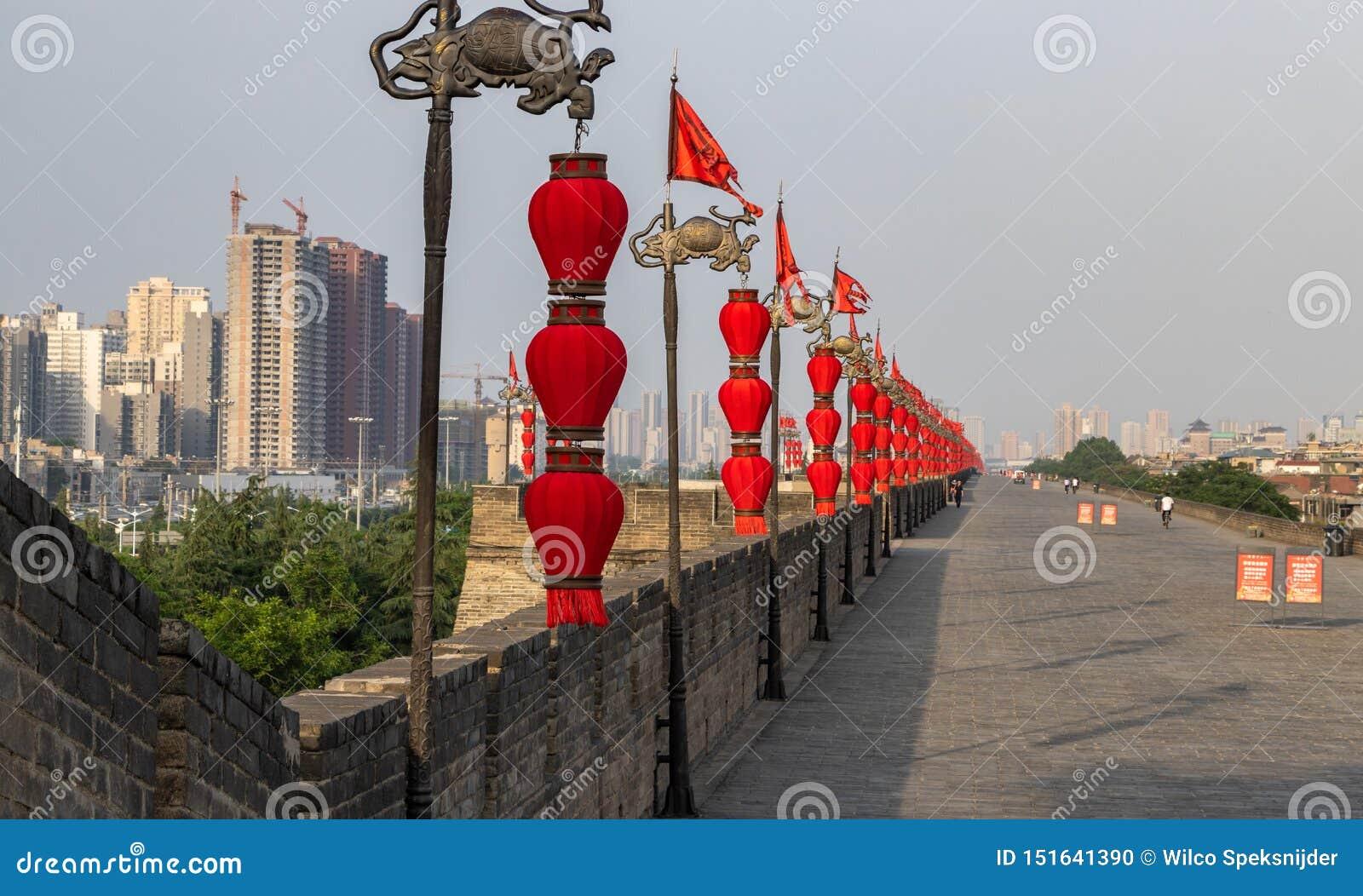 Xi ', China - parede de 05142019 cidades