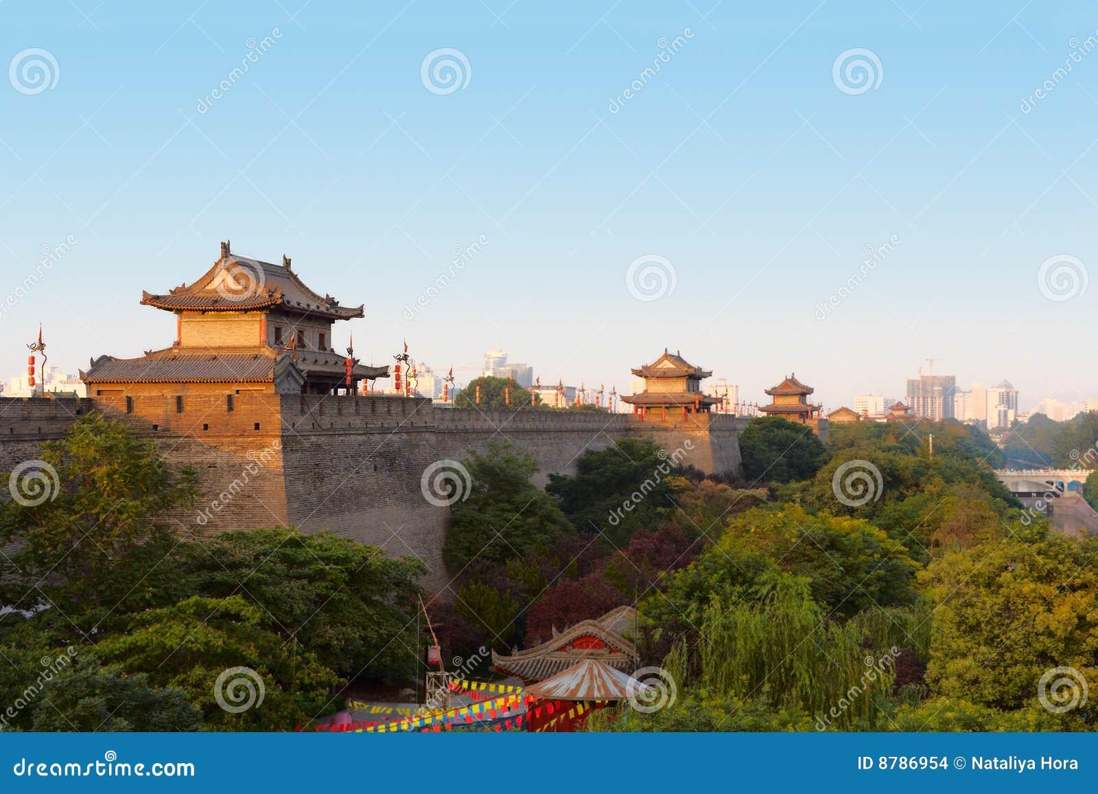 Xi an city wall