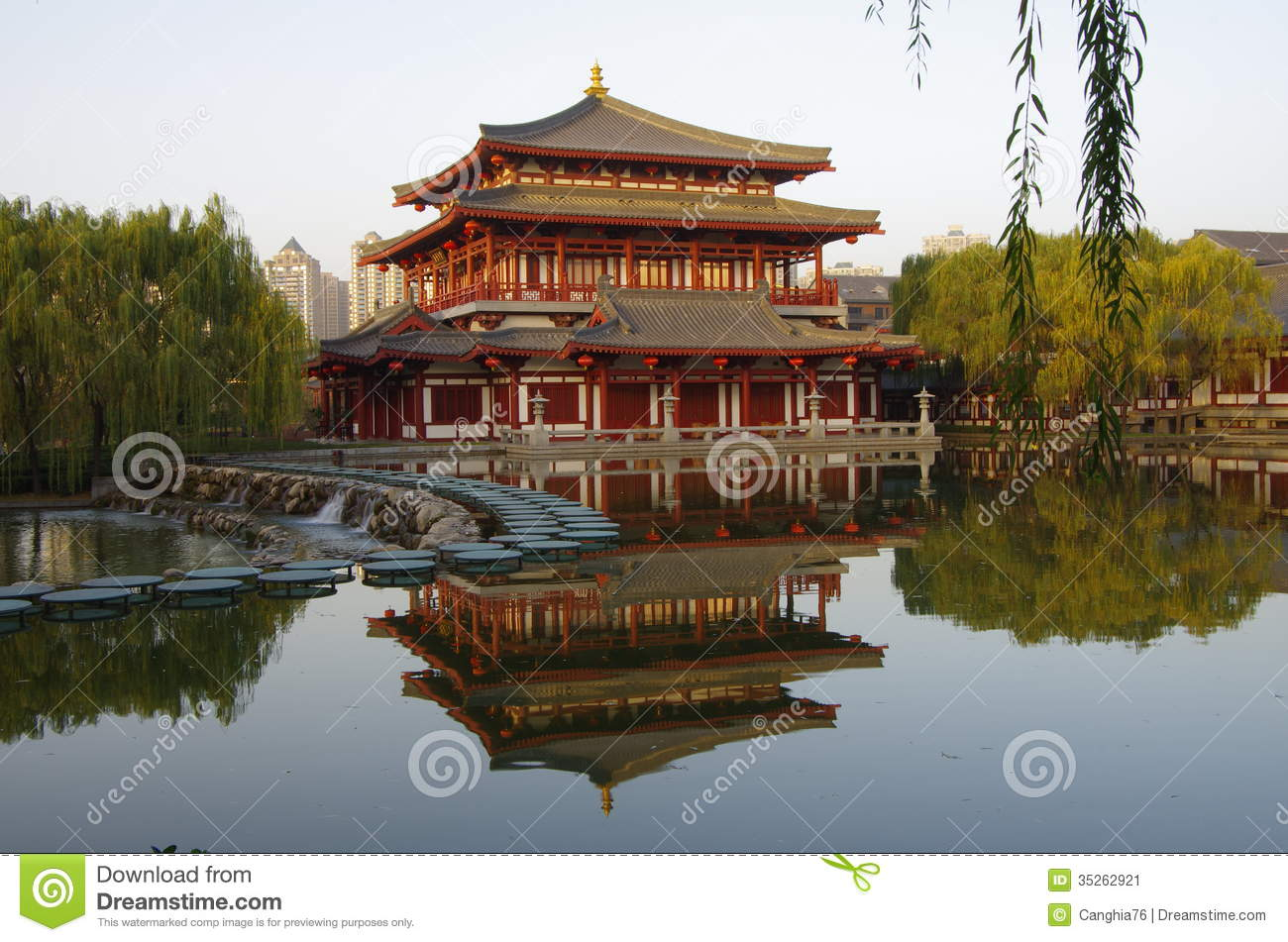 Xi \'an Datang Furong Garden In China Stock Image - Image of datang ...