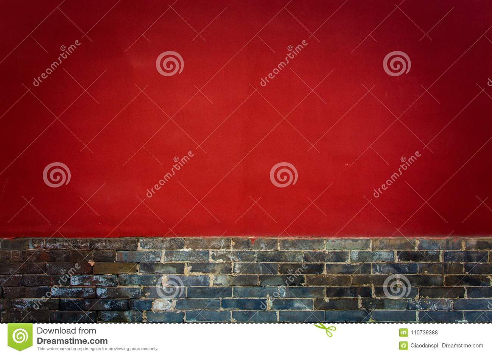 ` XI en forntida kinesisk arkitektur för Guangren tempel de röda väggarna för forntida stad