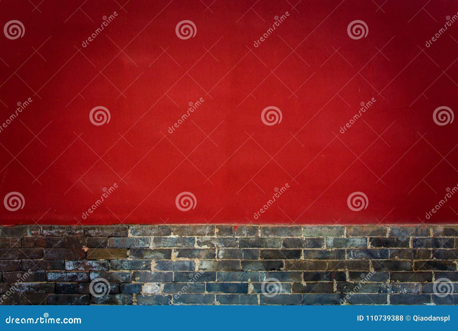 ` XI una arquitectura china antigua del templo de Guangren que la ciudad antigua roja empareda