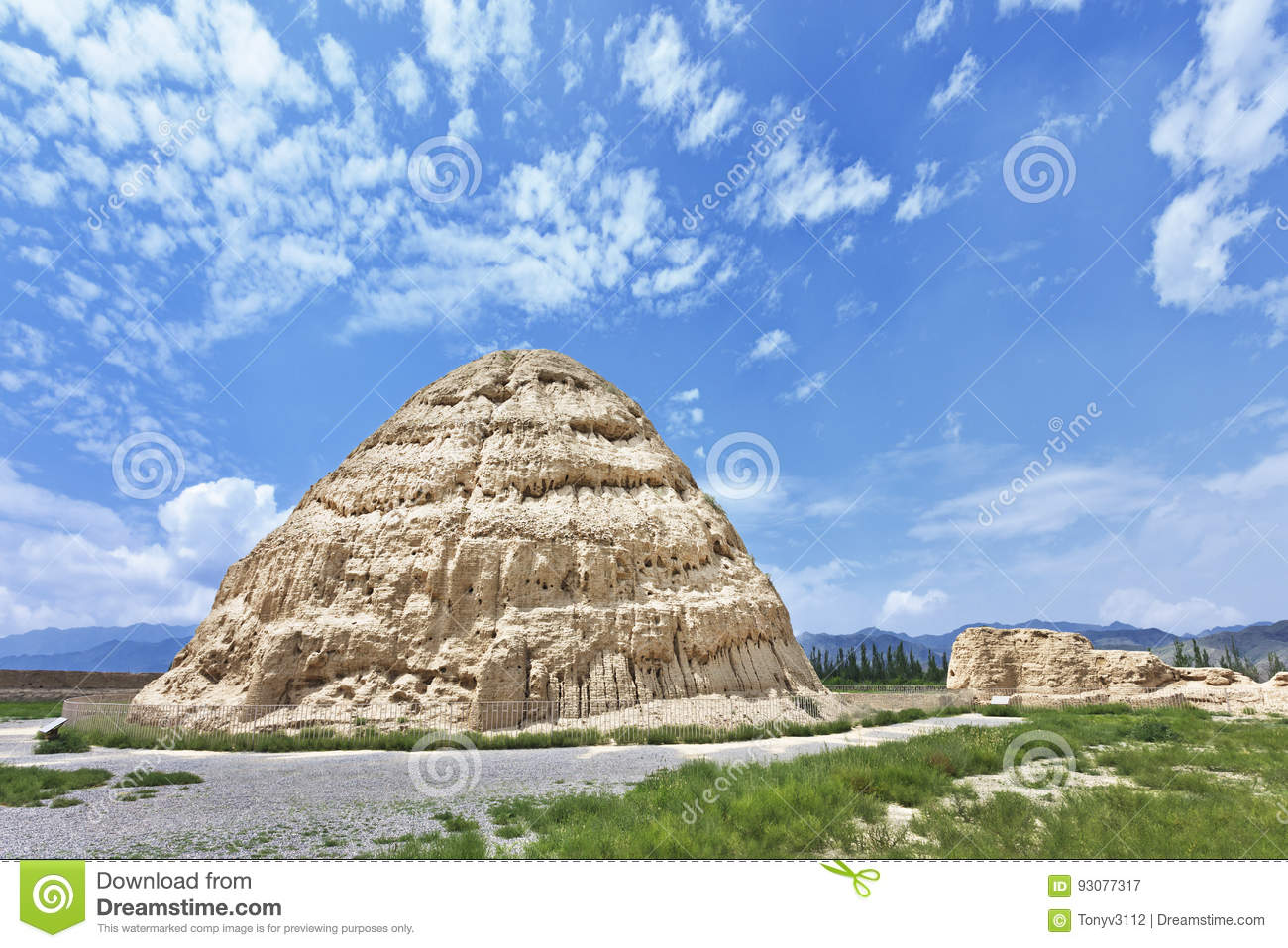 Xia Imperial Tombs occidentale province dans Yinchuan, le Ningxia, Chine