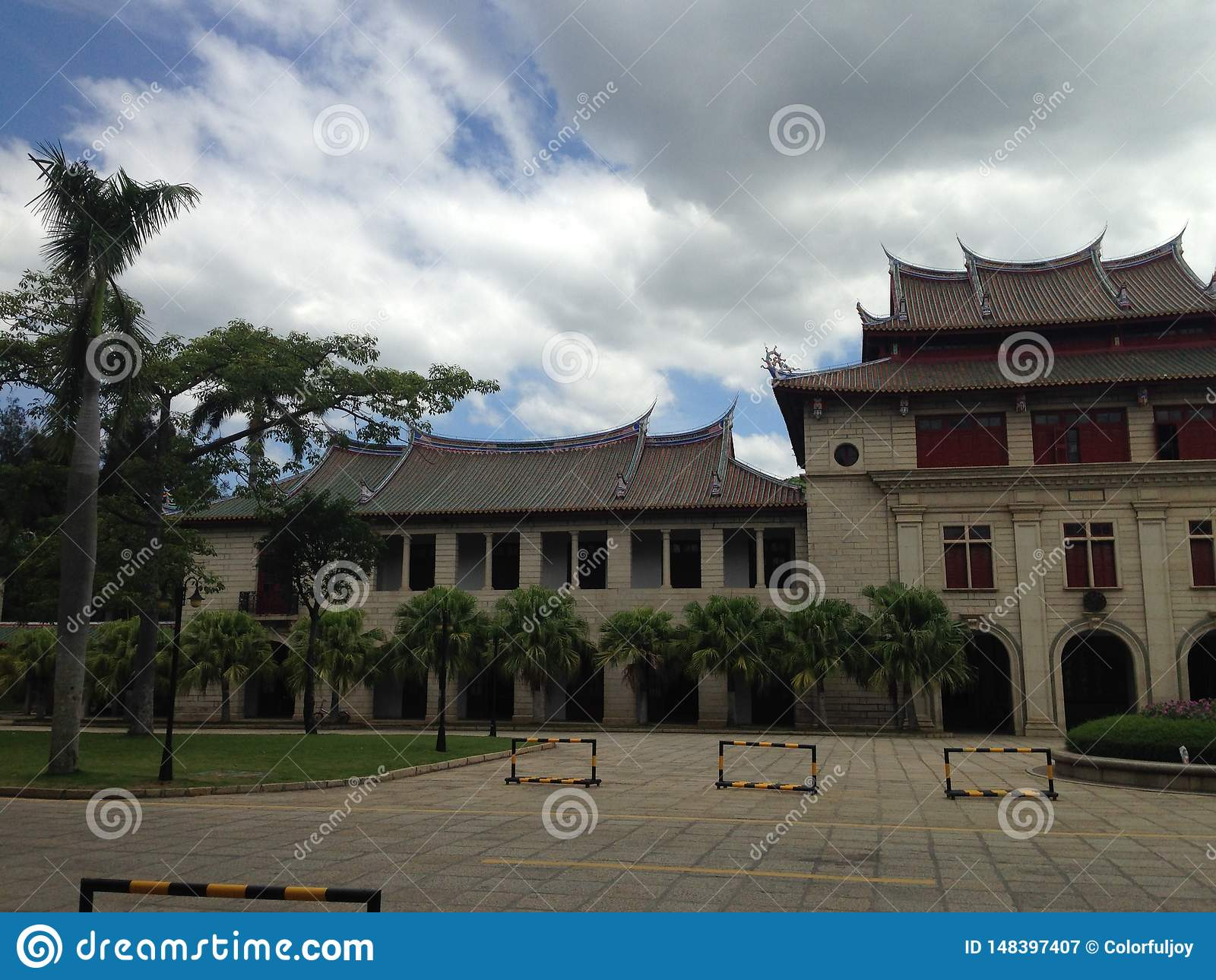 Xiamenuniversiteit, ??n van de mooiste universiteiten in ChinaCampus-sc?ne,