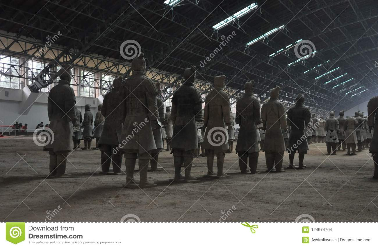 Terracotta Army. Clay soldiers of the Chinese emperor