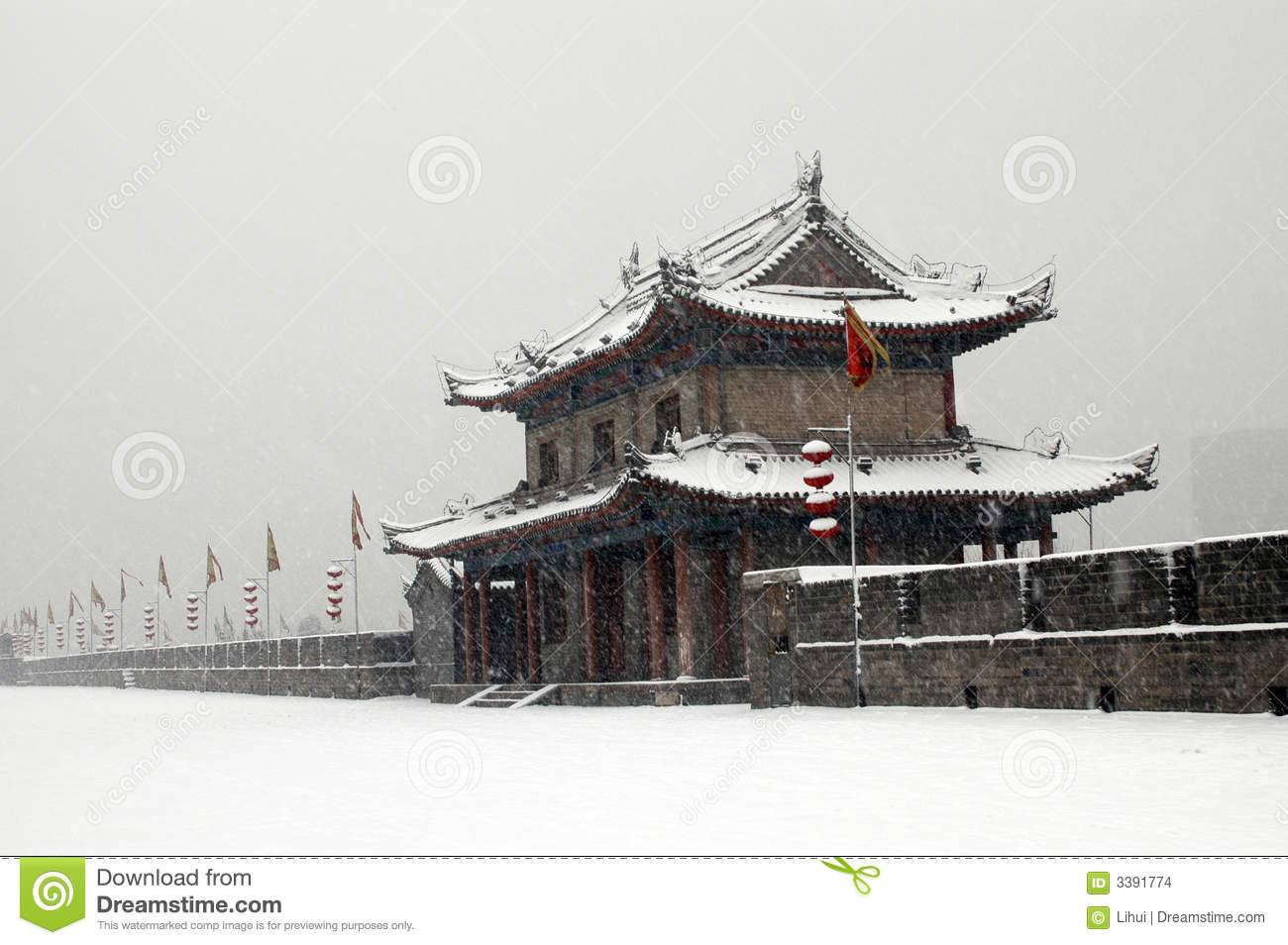 XIAN(XI AN) CITY WALL SNOW