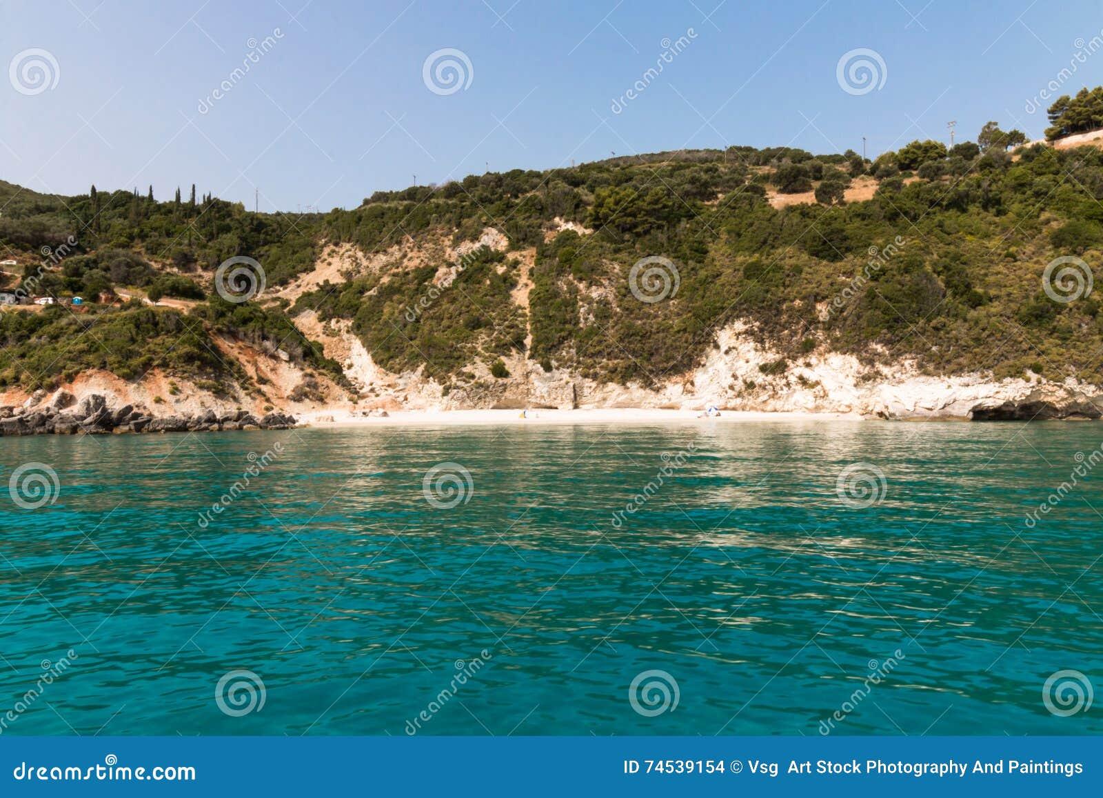 Xigia Strand Zakynthos Insel Griechenland Stockfoto Bild Von
