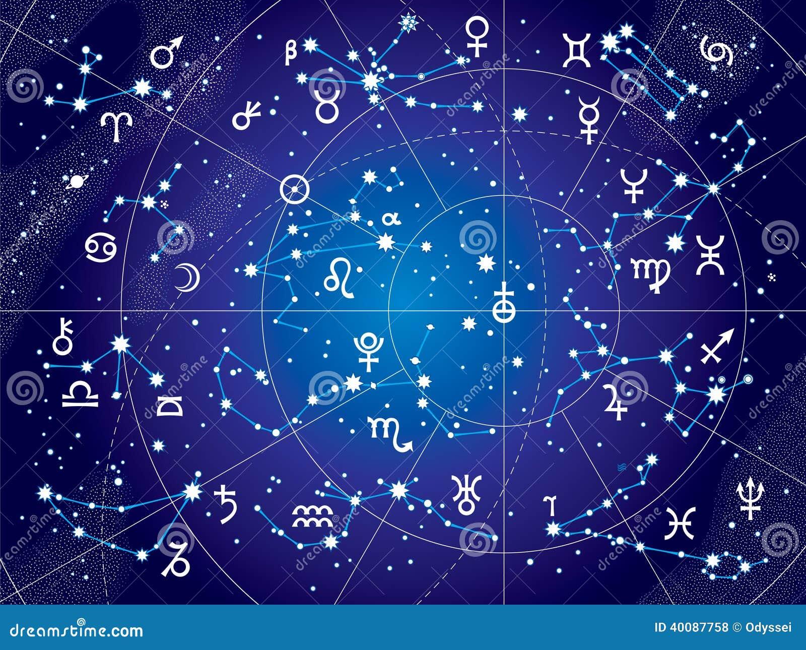 XII constelaciones de zodiaco (versión ultravioleta del modelo)