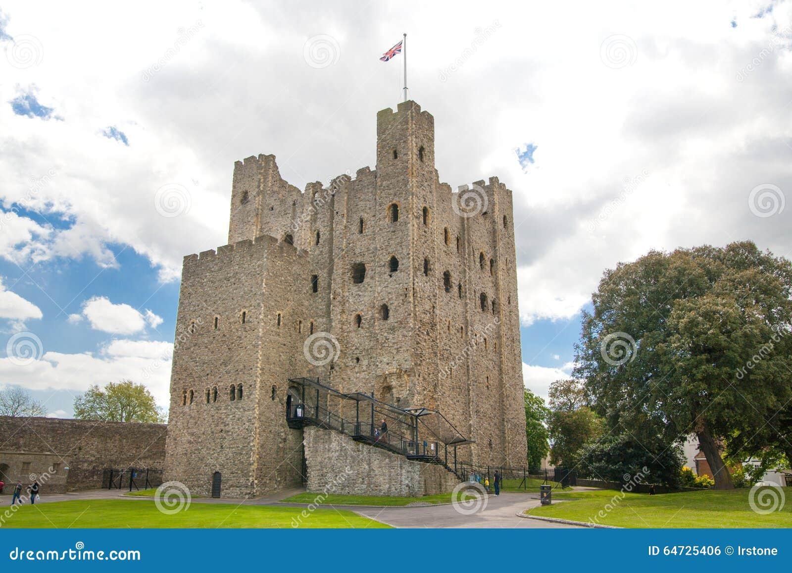 XII secolo del castello di Rochester Castello e rovine delle fortificazioni Risonanza, Inghilterra sudorientale