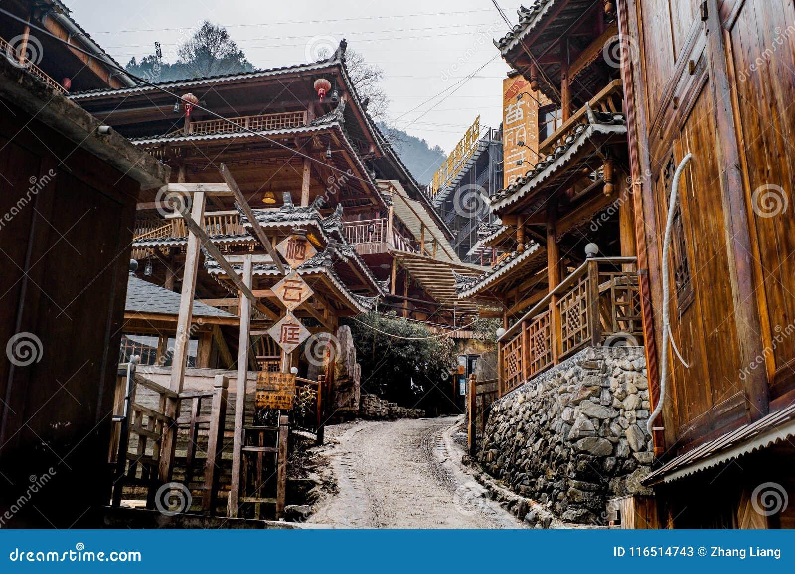 Xijiang tausend Familie Miao-Dorf, Guizhou, China