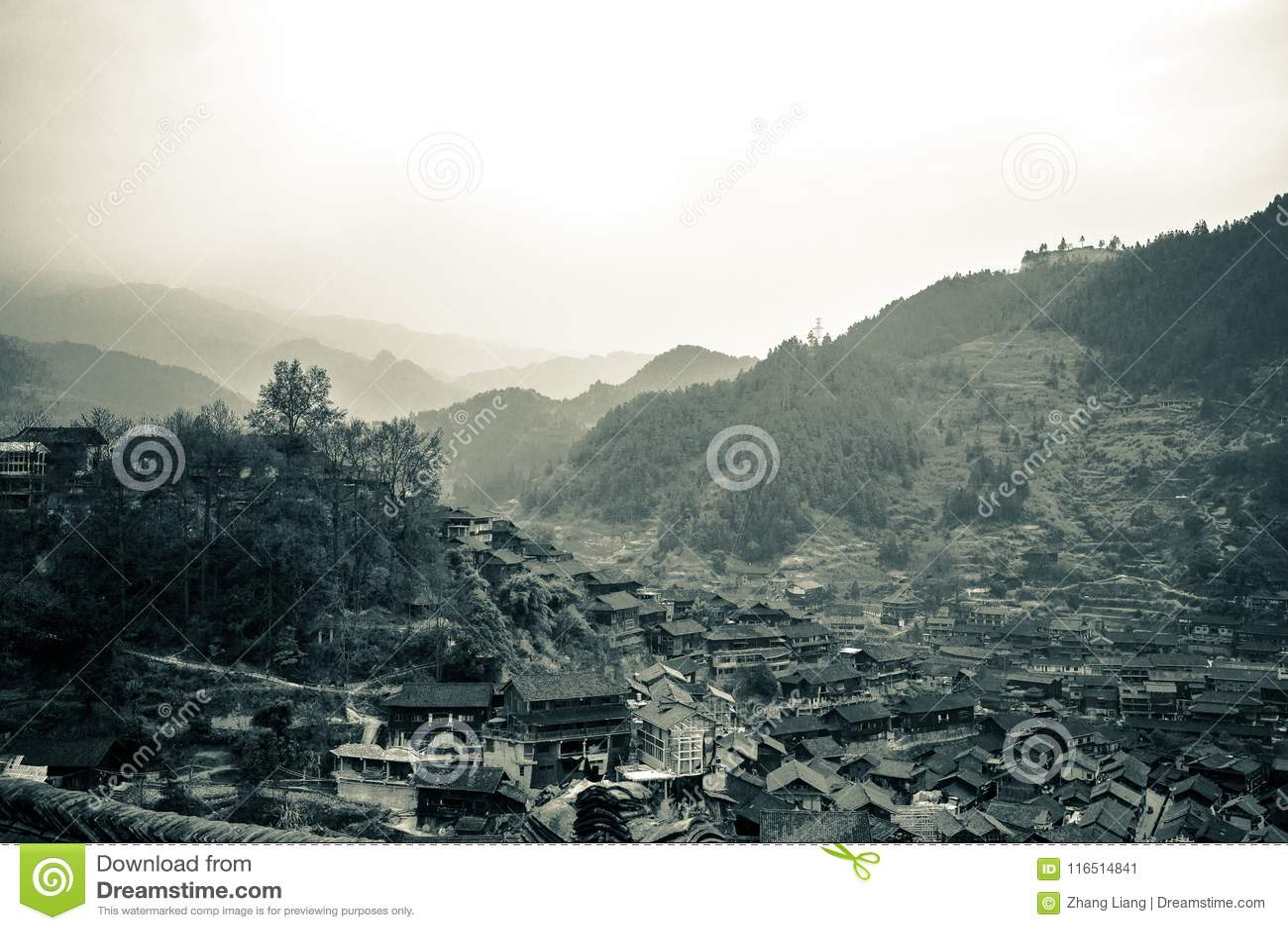 Xijiang thousand family Miao village, Guizhou, China