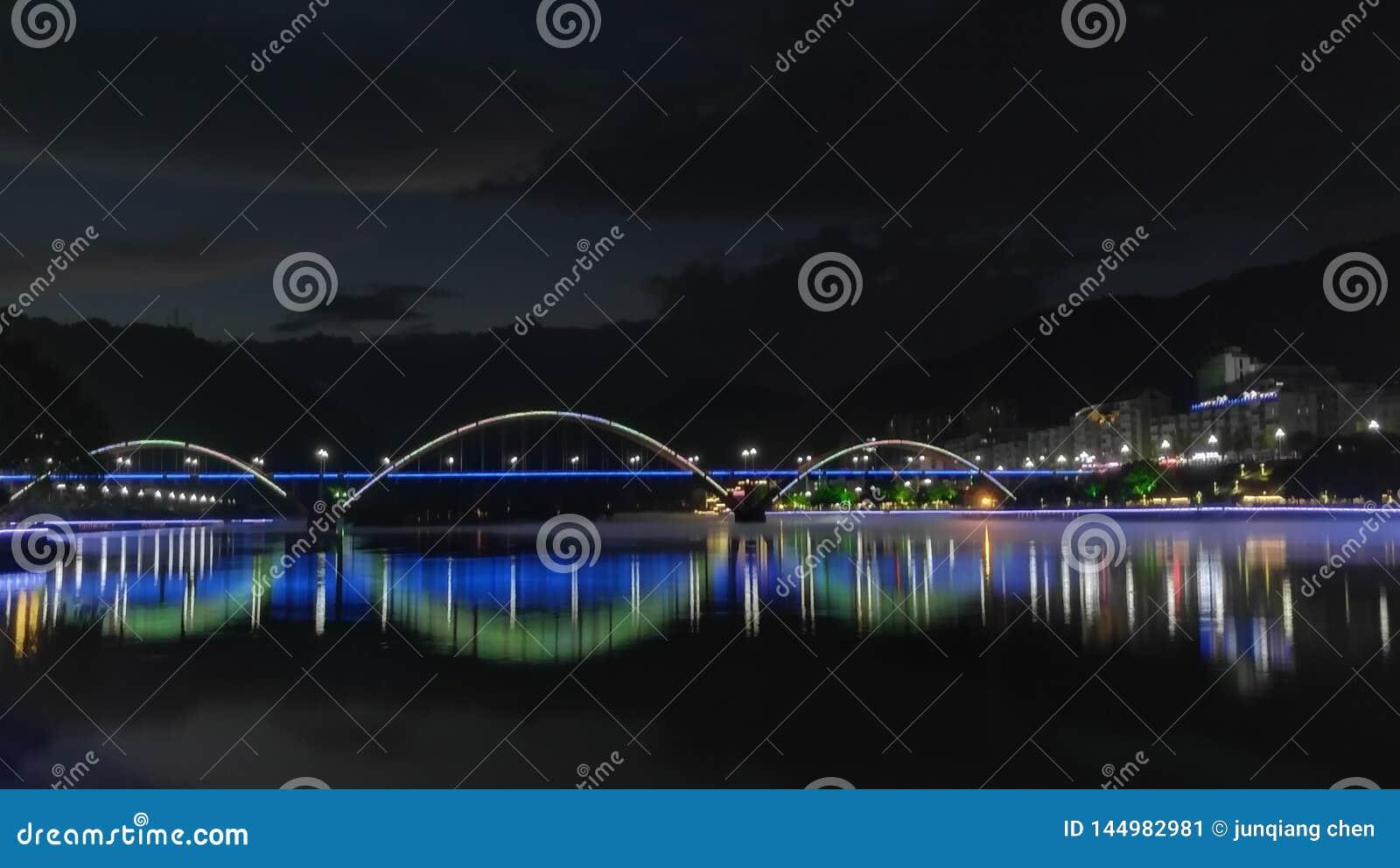 Xin& x27;河夜景