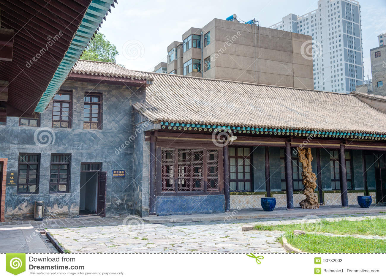 XINING, CHINA - 10 de julho de 2014: RESIDÊNCIA OFICIAL do miliampère BUFANG (miliampère B