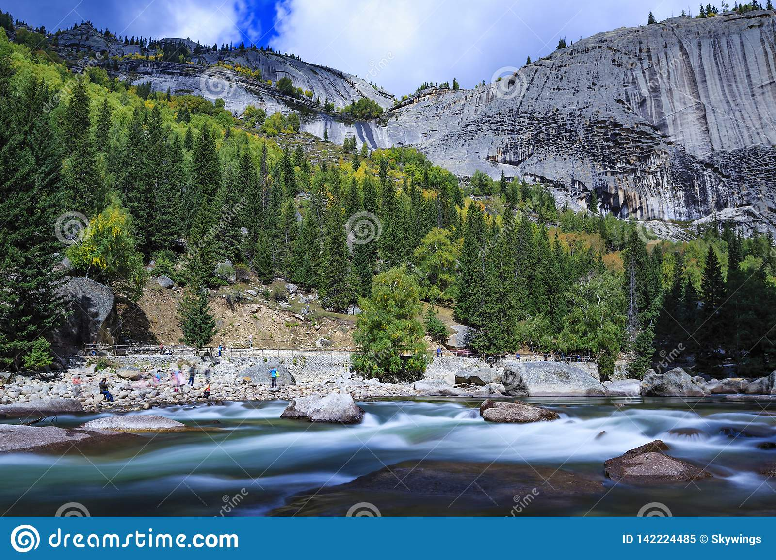 Grand River Flow >> Xinjiang Keketuohai Scenic Area Erqisi River Stock Image