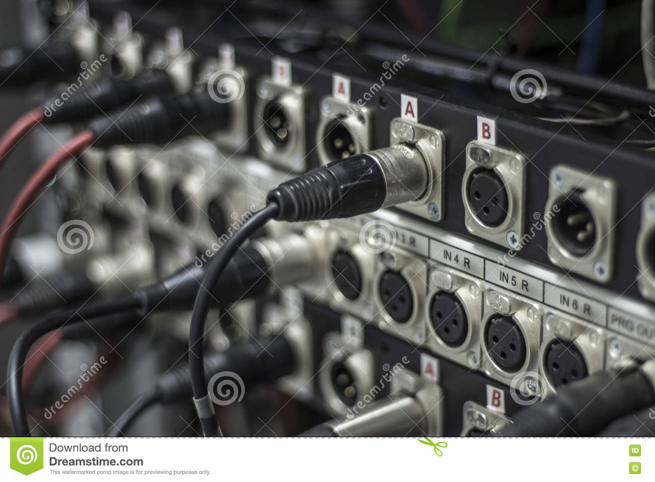 Groovy Xlr Jack Cable Connected At Rear End Of Equipment Stock Photo Wiring Digital Resources Funapmognl