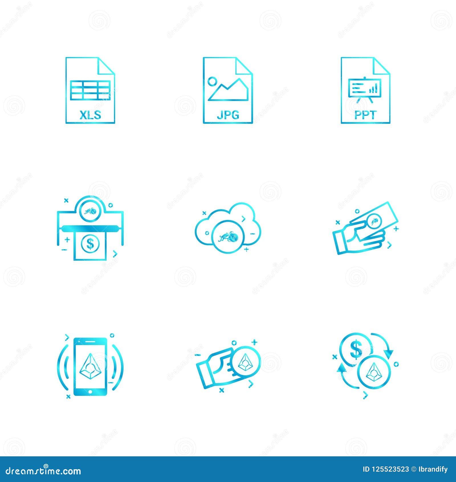 Xls, jpg, ppt, dólar, moneda crypto, daimond, dinero, MES