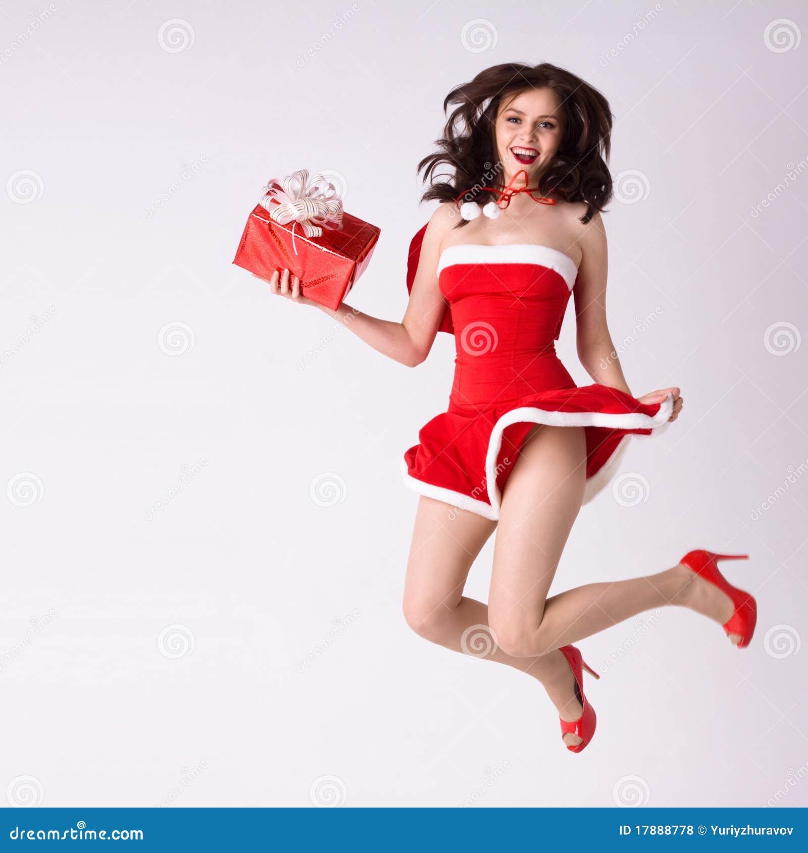 Xmas женщины подарка мухы costume красный