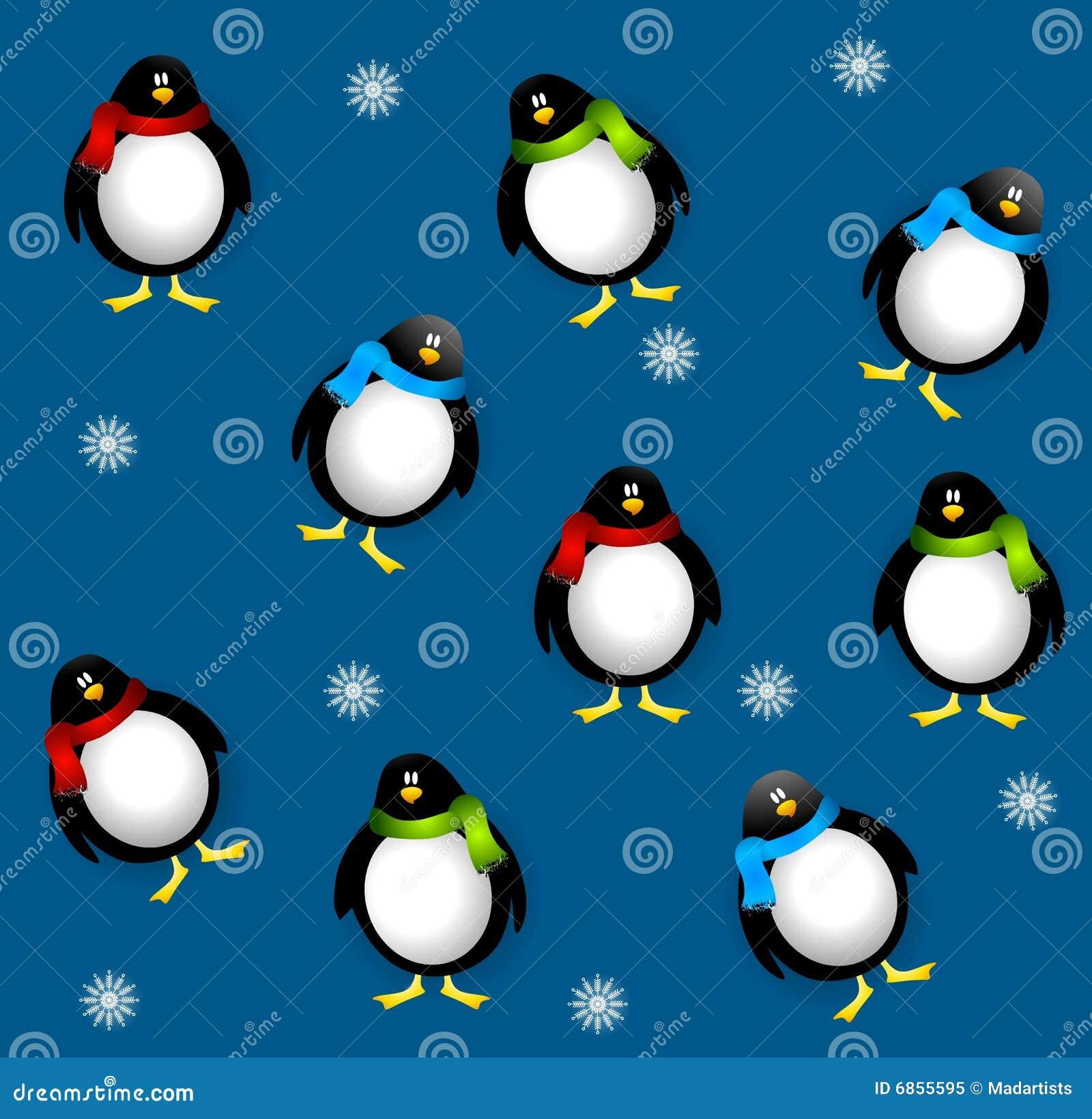 Xmas пингвинов tileable