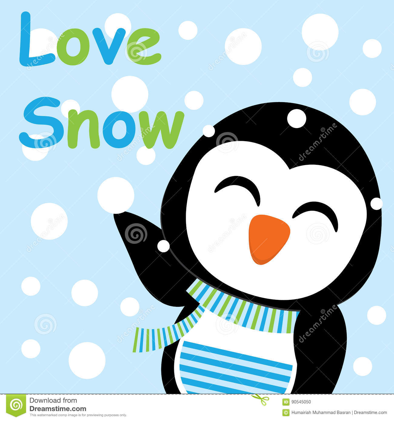Vector Love cartoon Wallpaper : Xmas card With cute Penguin Vector cartoon, Love Snow Letter, Xmas Postcard, Wallpaper, And ...