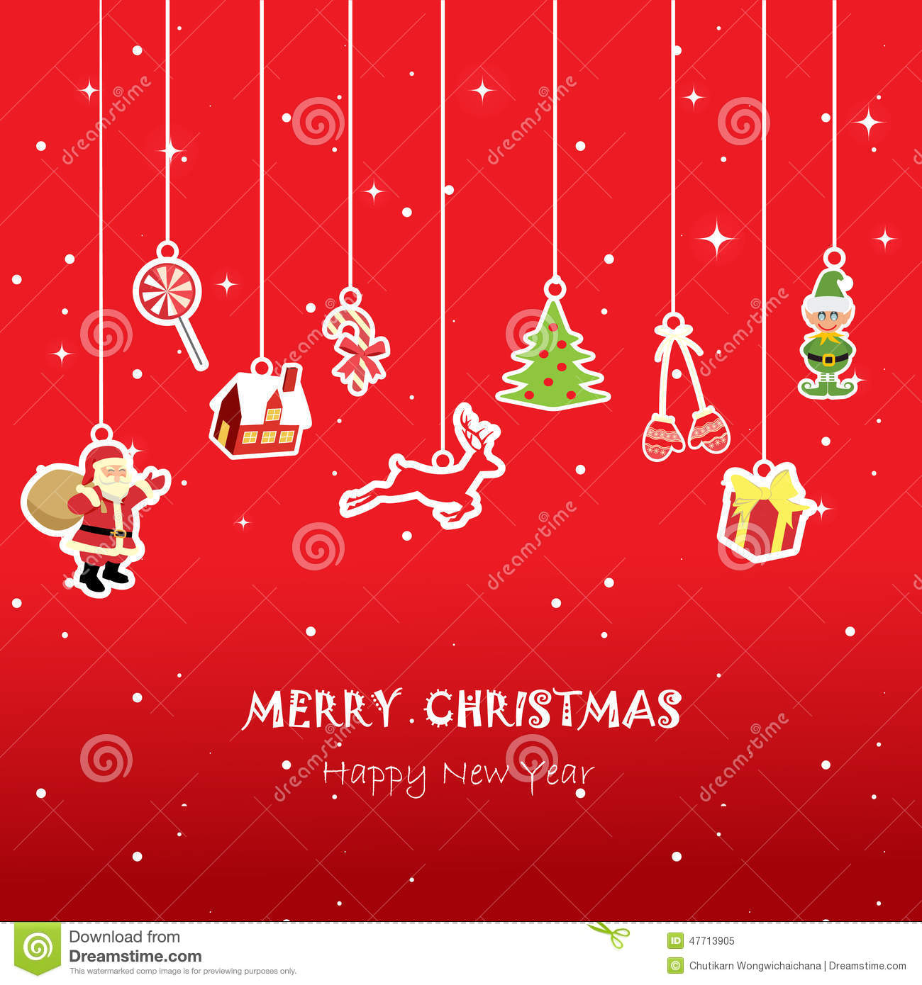 Xmas Card For Kid,red Background Stock Vector - Illustration of ...