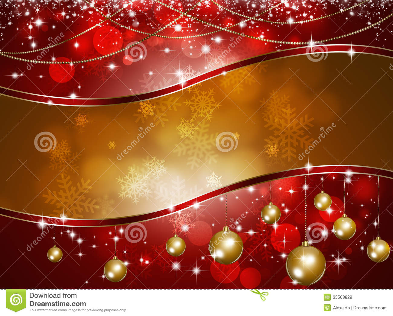 Free Illustration Background Christmas Red Gold: Xmas Celebration Background Stock Illustration