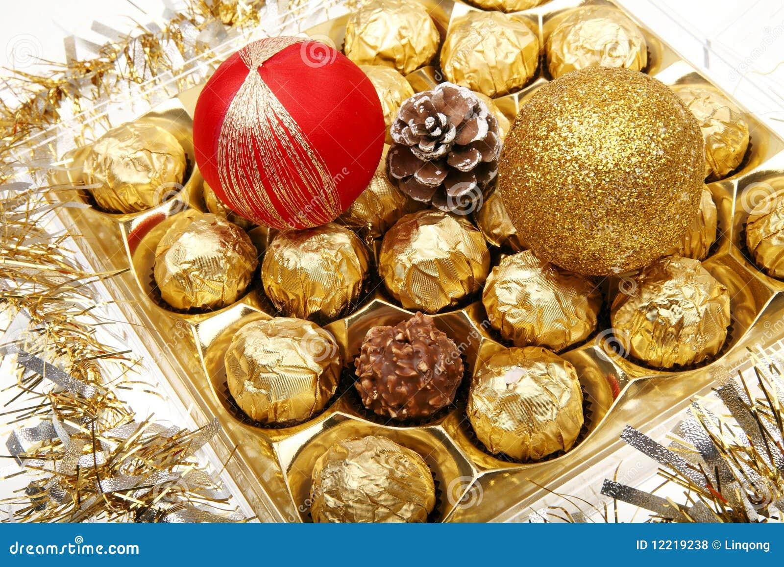 Xmas Chocolate Gift Royalty Free Stock Photos Image