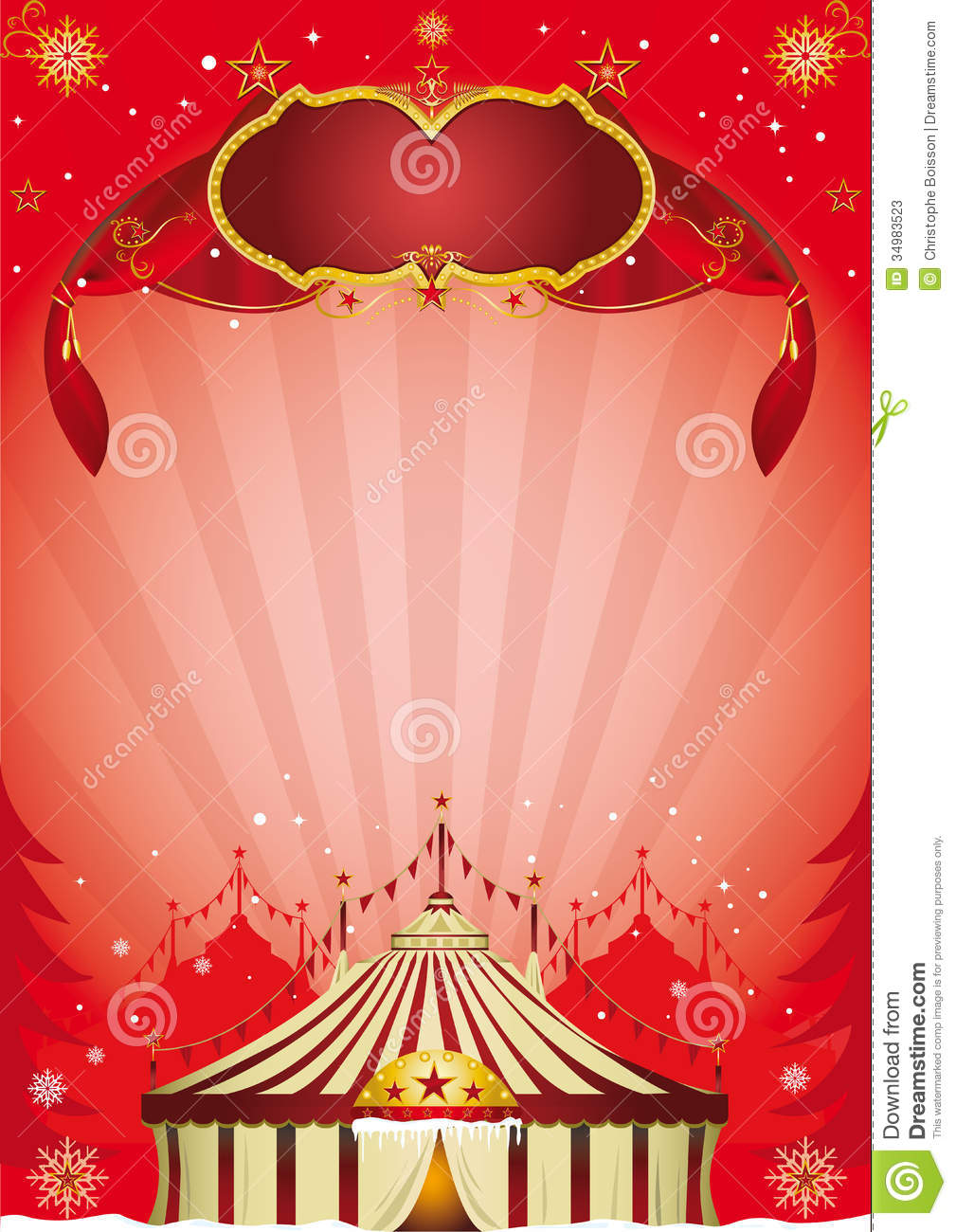 Xmas Circus Poster Stock Photos - Image: 34983523