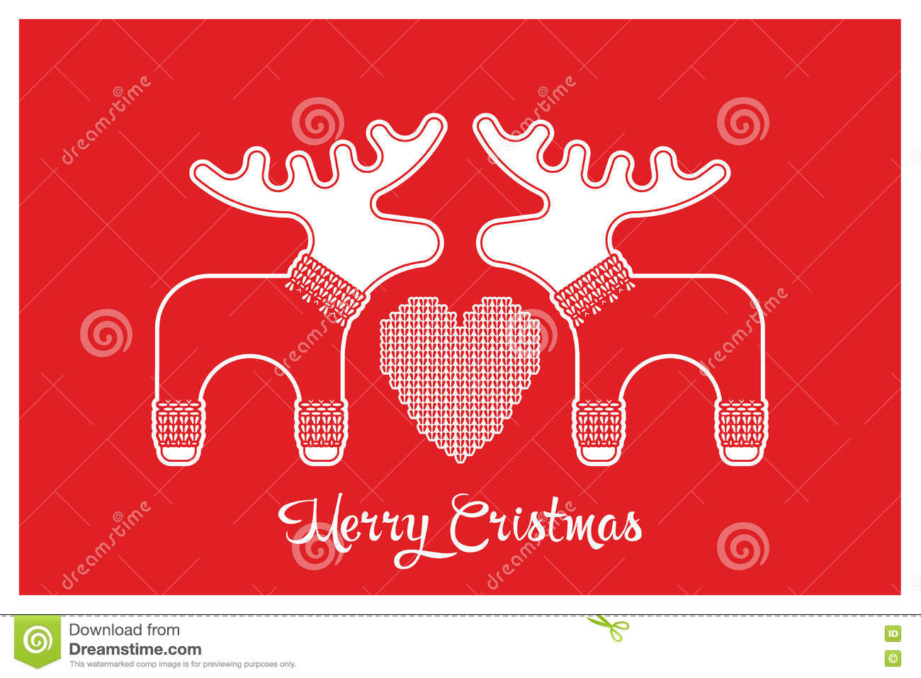 643cbf80382fe0 Vector xmas cute greeting card with adorable reindeer and elk in knitted  sweaters. Xmas card with a wish a Merry Christmas.
