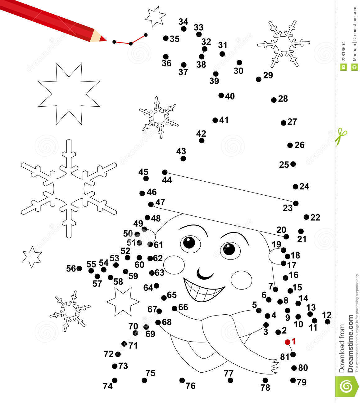 xmas dot game stock images image 22816604