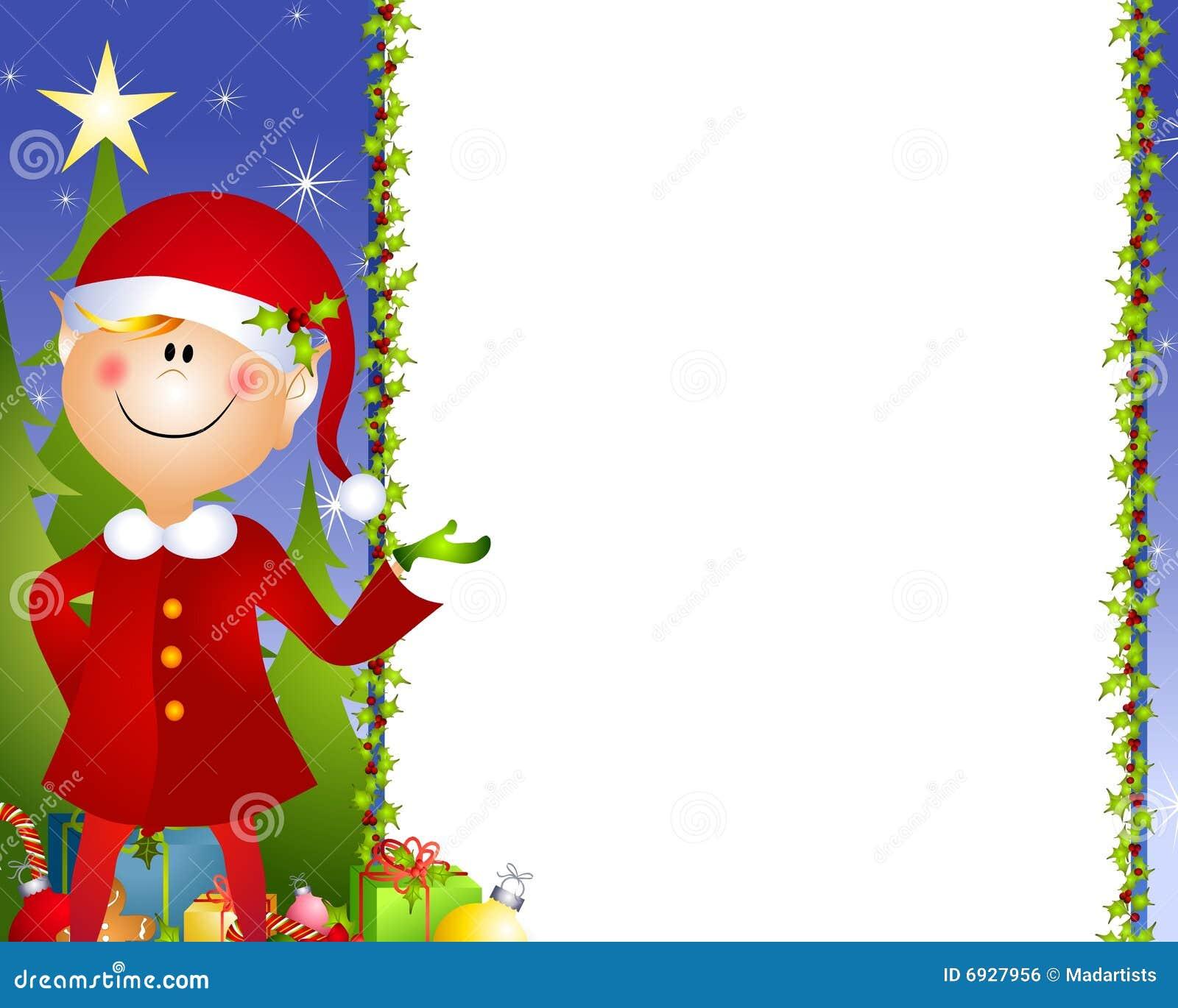 Xmas Elf Background Stock Illustration Of Helper