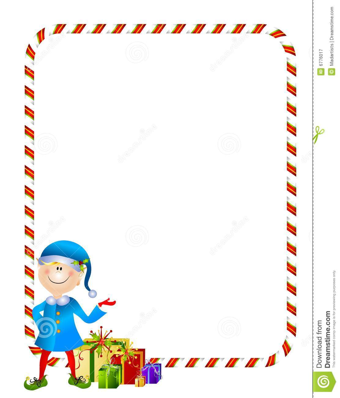 Xmas Elf With Gifts Border Royalty Free Stock Photography - Image ...