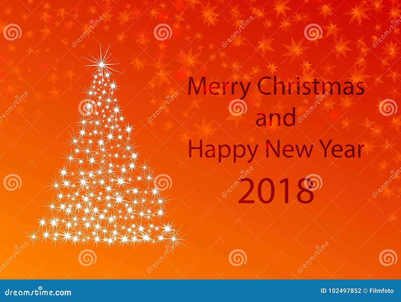 Xmas-hälsningkort för nya år 2018