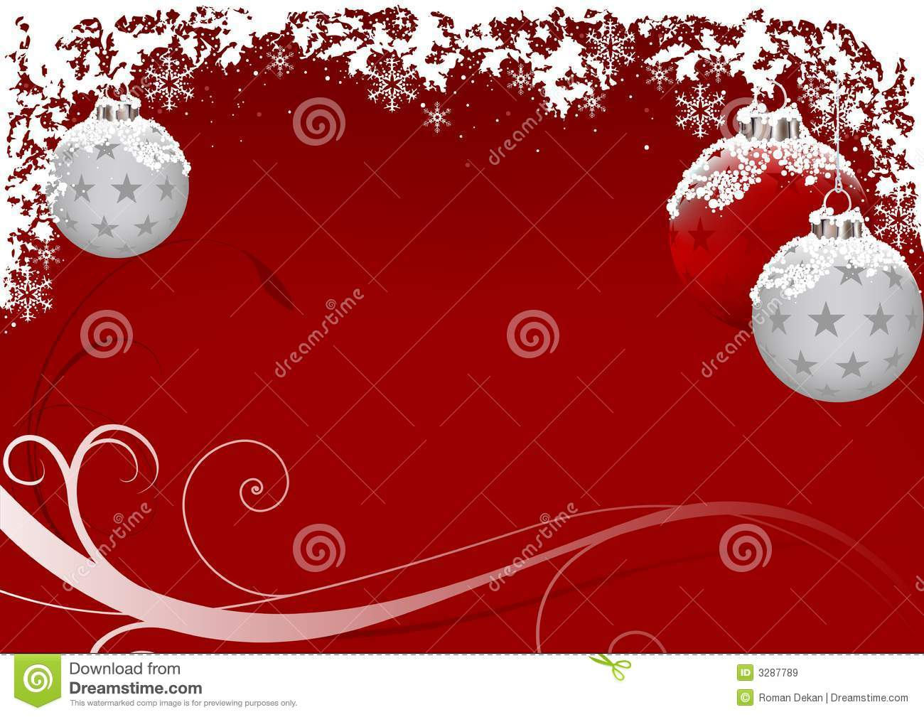 Xmas Red Frost Royalty Free Stock Images Image 3287789