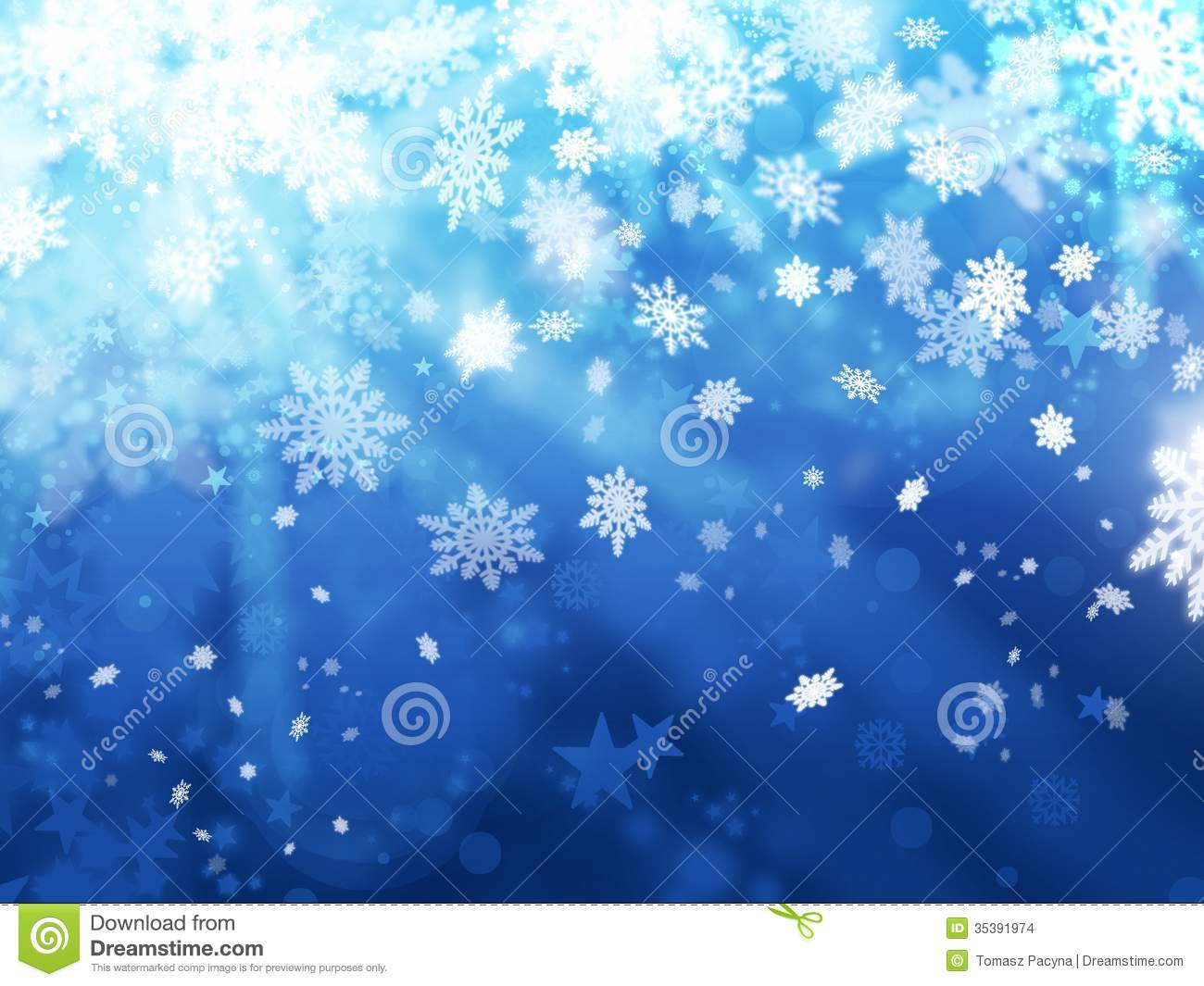 Xmas Snoflakes Abstract Winter Background Stock Images