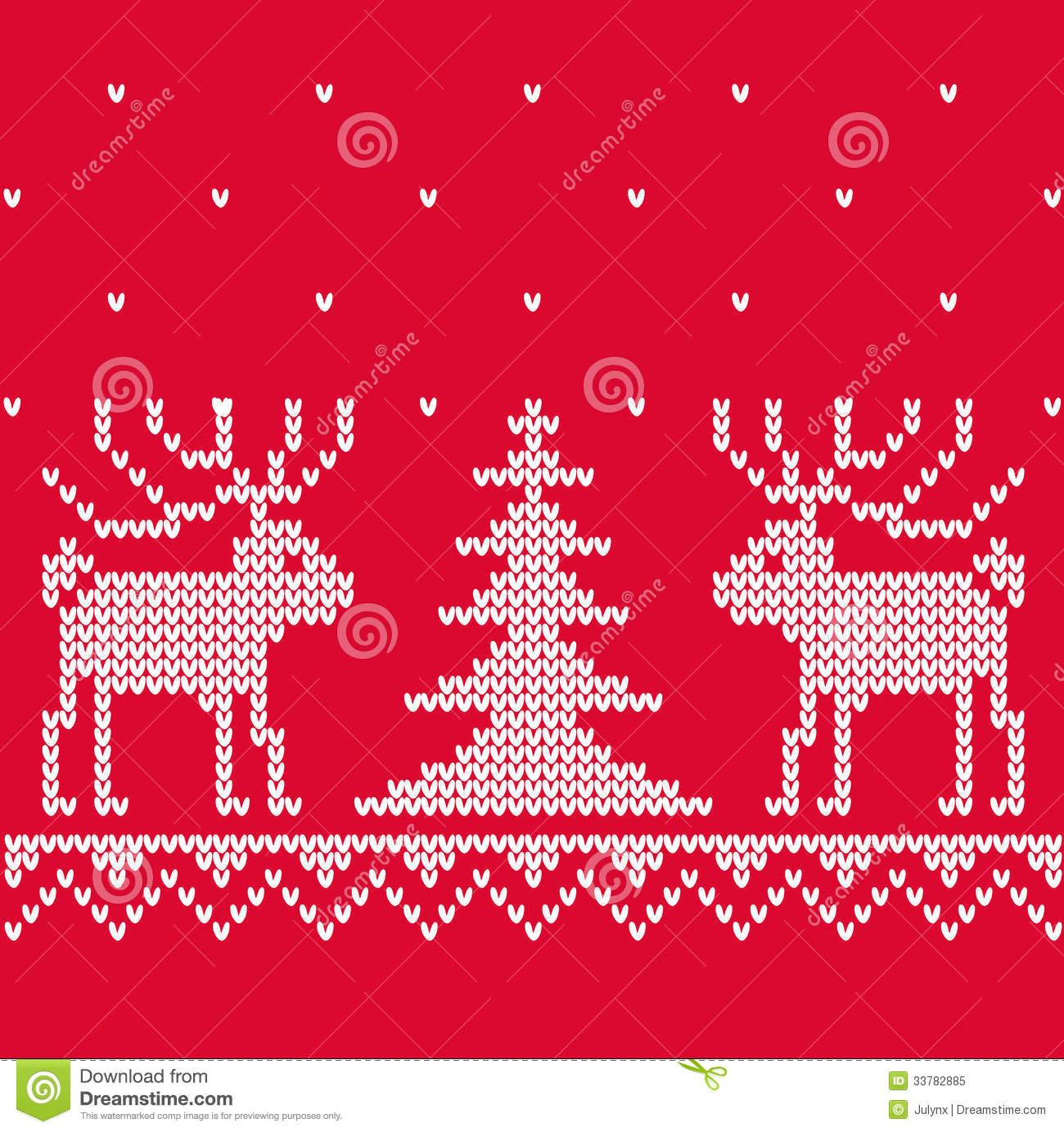 Christmas Knitting Background : Xmas texture with deep for knitting stock vector image